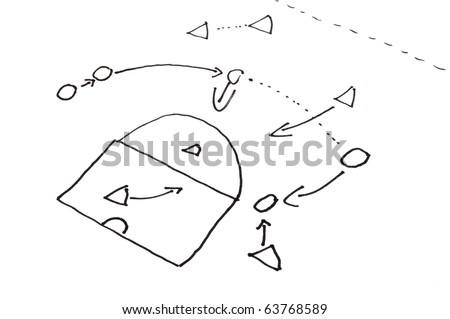 game strategy plan on white background with copyspace - stock photo