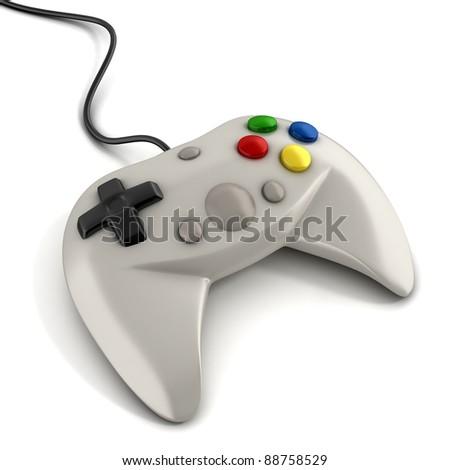 gamepad 3d illustration - stock photo