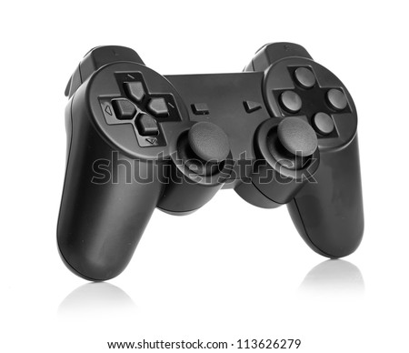gamepad isolated on a white background - stock photo