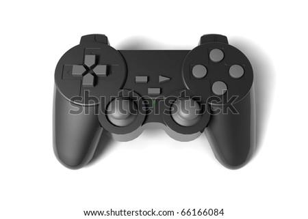 gamepad on white background - stock photo