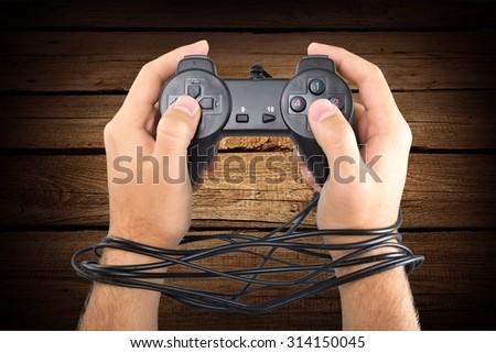 Gaming addict. - stock photo
