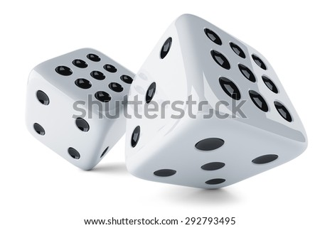 Gaming dices isolated on white background 3d