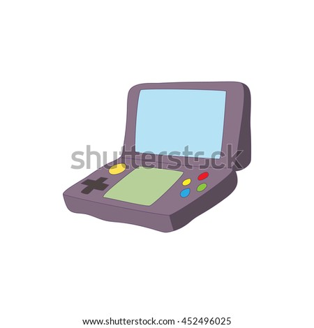 Gaming keyboard for tablet icon in cartoon style isolated on white background. Games and consoles symbol - stock photo