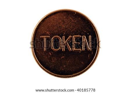 gaming token isolated macro - stock photo