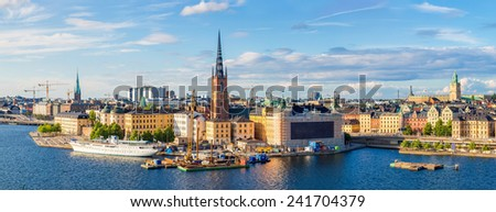 Gamla Stan, the old part of Stockholm, Sweden - stock photo