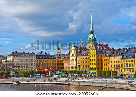 Gamla Stan View, Stockholm, Sweden - stock photo