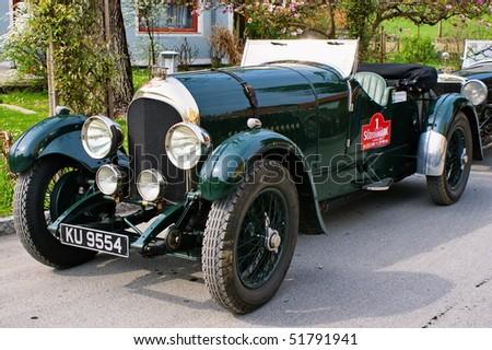 "GAMLITZ-APRIL 24:Bentley Speed Model from 1925  on rally vintage cars ""Suedsteiermark Classic""April 24,2010 in Gamlitz,Austria. - stock photo"