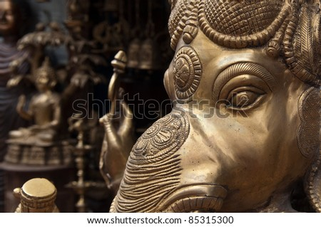Ganesh in Indian Store for Sale - stock photo