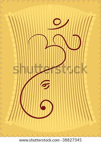 Ganesha Diwali Greeting - stock photo