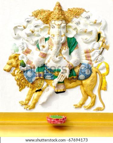 Ganesha five faces - stock photo