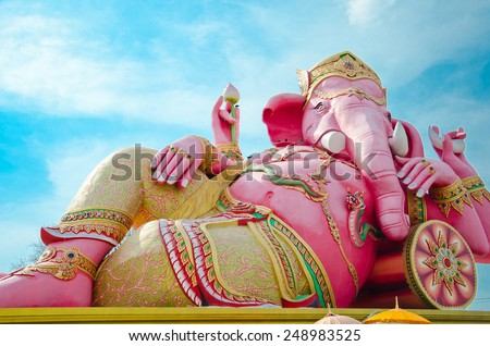 Ganesha in Thailand - stock photo