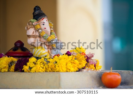 Ganesha Statue in Little India, Singapore