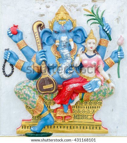 Ganesha statue,  the public is open to the people worship. (Uchchishta Ganapati)