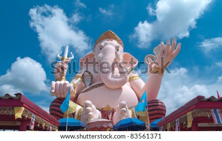 Ganesha statue with beautiful sky in Thailand