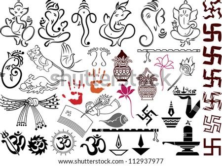 Ganesha Wedding Symbols Stock Illustration 112937977 Shutterstock