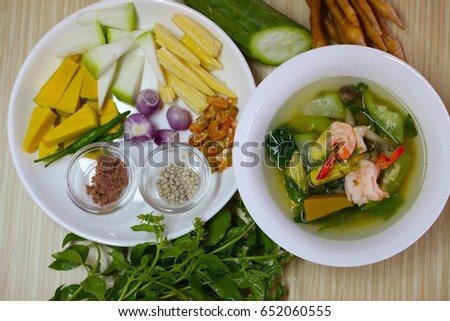 Gang Liang, Thai vegetable herbal soup that is hot and spicy