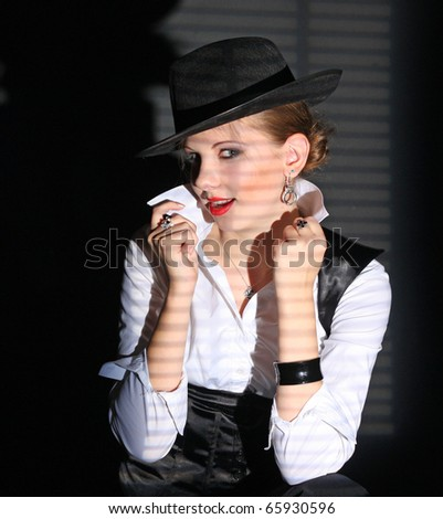 Gangster girl - stock photo