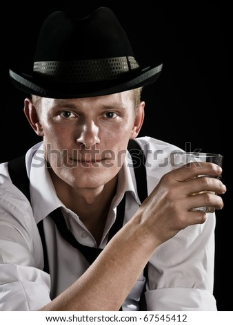 gangster  is relaxing - stock photo