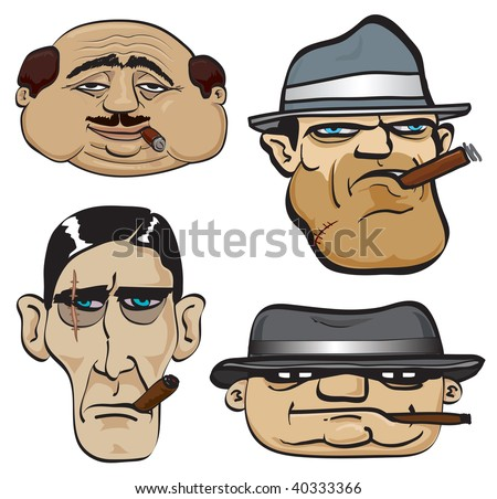 Gangsters. JPEG version. - stock photo