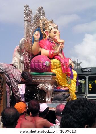 Ganpati Festival - stock photo