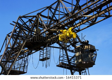 gantry over blue sky
