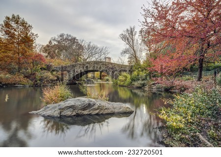 Gapstow Bridge is one of the icons of Central Park, Manhattan in New York City - stock photo