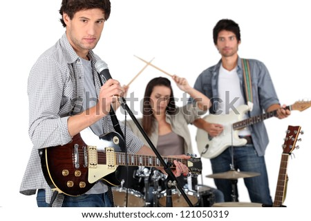 Garage band. - stock photo