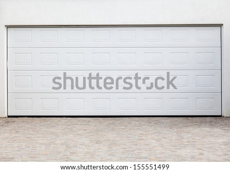 Garage door - stock photo