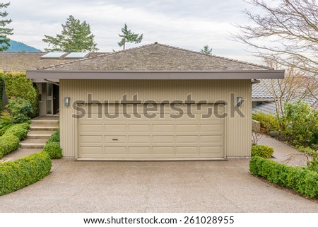 Garage Door In Vancouver Canada Stock Photo