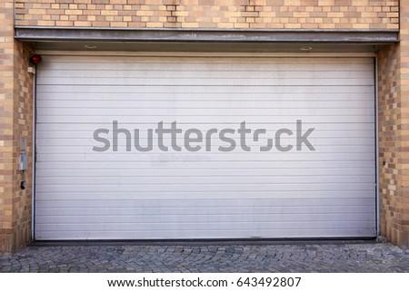 Garage Door. Roller shutter garage door & Garage Door Roller Shutter Garage Door Stock Photo 643492807 ... Pezcame.Com