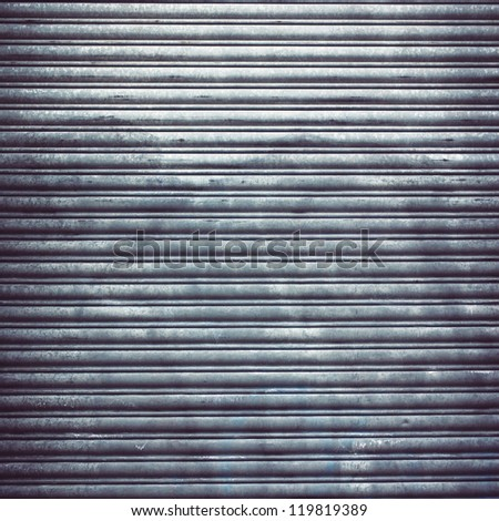 garage door stripped texture ; metal background - stock photo