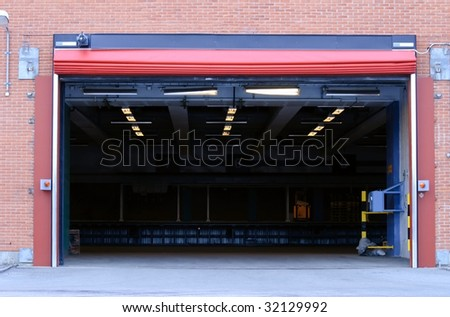 Garage entry - stock photo