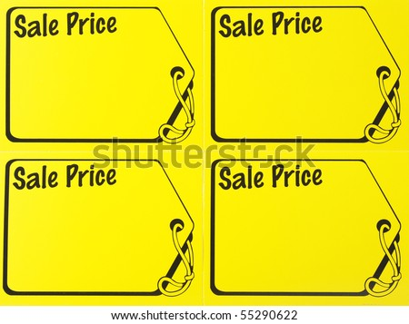 garage sale price sign - stock photo