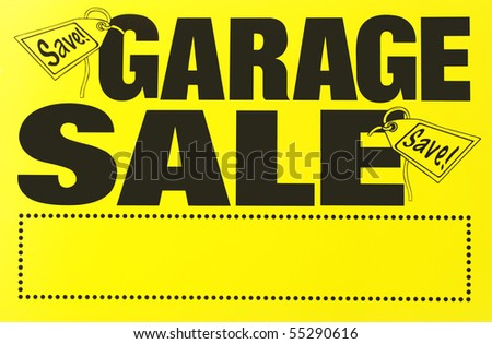 garage sale sign - stock photo