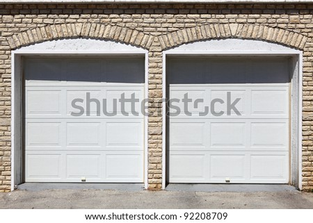 Garages - stock photo