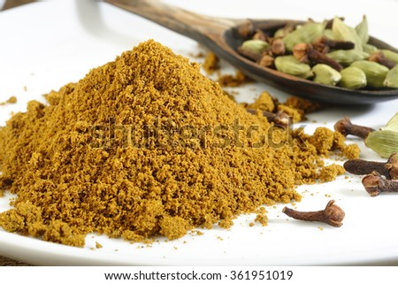 garam masala powder - stock photo