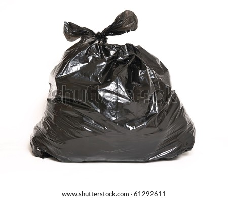 Garbage bag isolated on a white background - stock photo