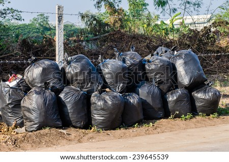 Garbage bags - stock photo