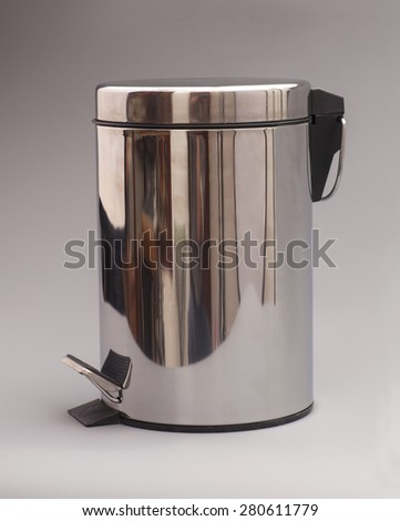 Garbage bin isolated on gray background