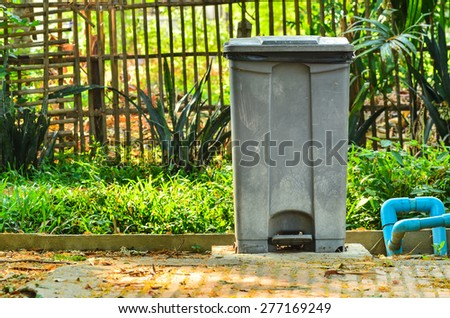Garbage can - stock photo