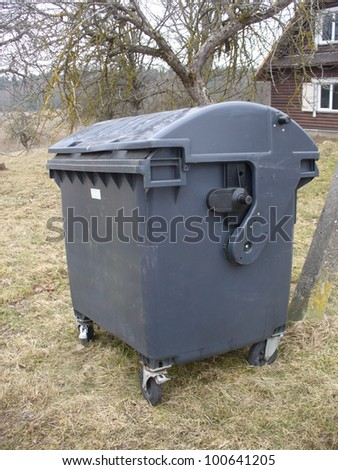 garbage container - stock photo
