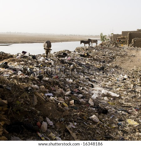 Garbage Dump in Africa - stock photo
