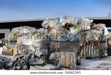 Garbage outdoors - stock photo