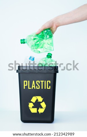 Garbage placed in container for segregation. - stock photo