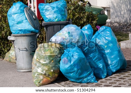 Garbage - plastic waste - waste collection - waste separation - stock photo