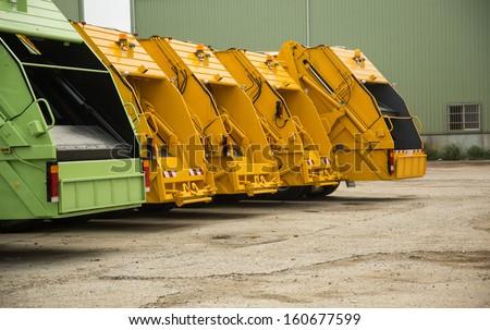 Garbage truck - stock photo