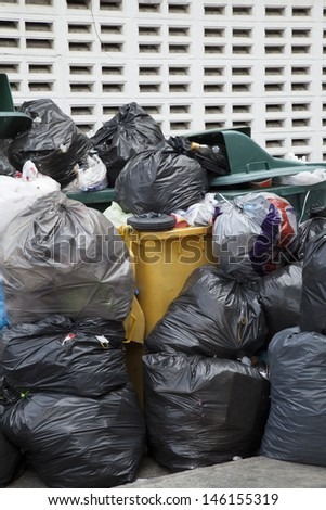 garbages on the street - stock photo