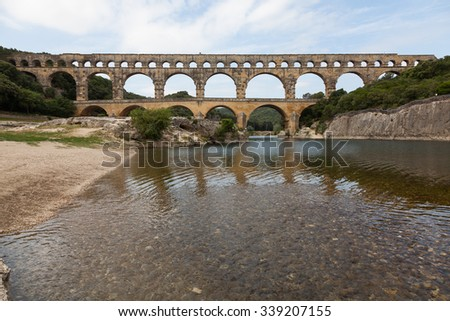 Gard Bridge, Pont du Gard, France