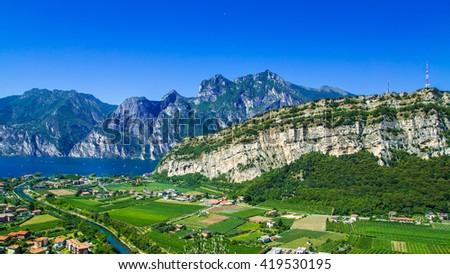 Garda Sea Riva del Garda - stock photo