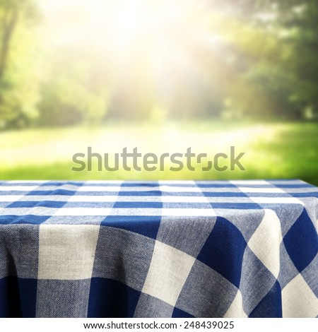 garden and table  - stock photo